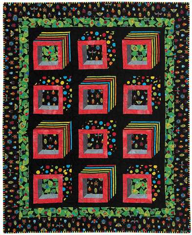 Bugs in Boxes - FINISHED QUILTS