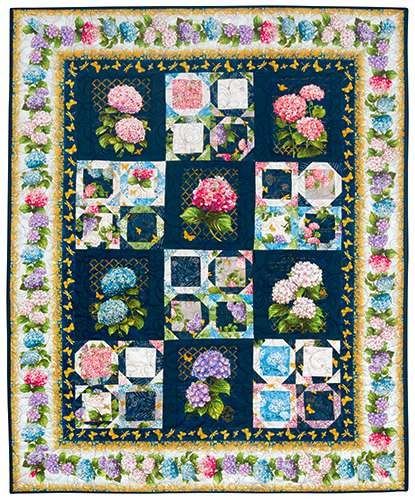 Hydrangea Dreams - Finished Quilt preview
