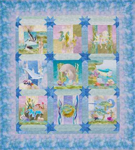 Sea Breeze - FINISHED QUILT FOR SALE