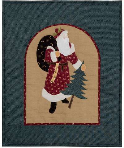 Victorian Santa - Finished Wall Hanging