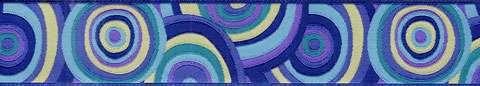 38mm Ribbon - Kaffe Fassett's Purple Target