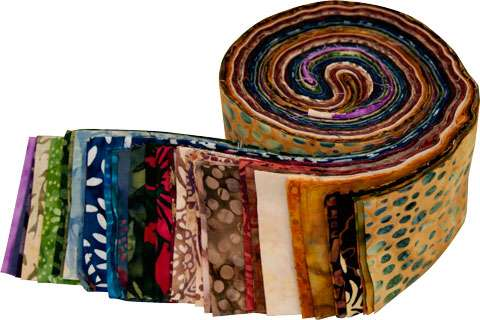 Batik Roll Up (Forty 2.5 inch strips)