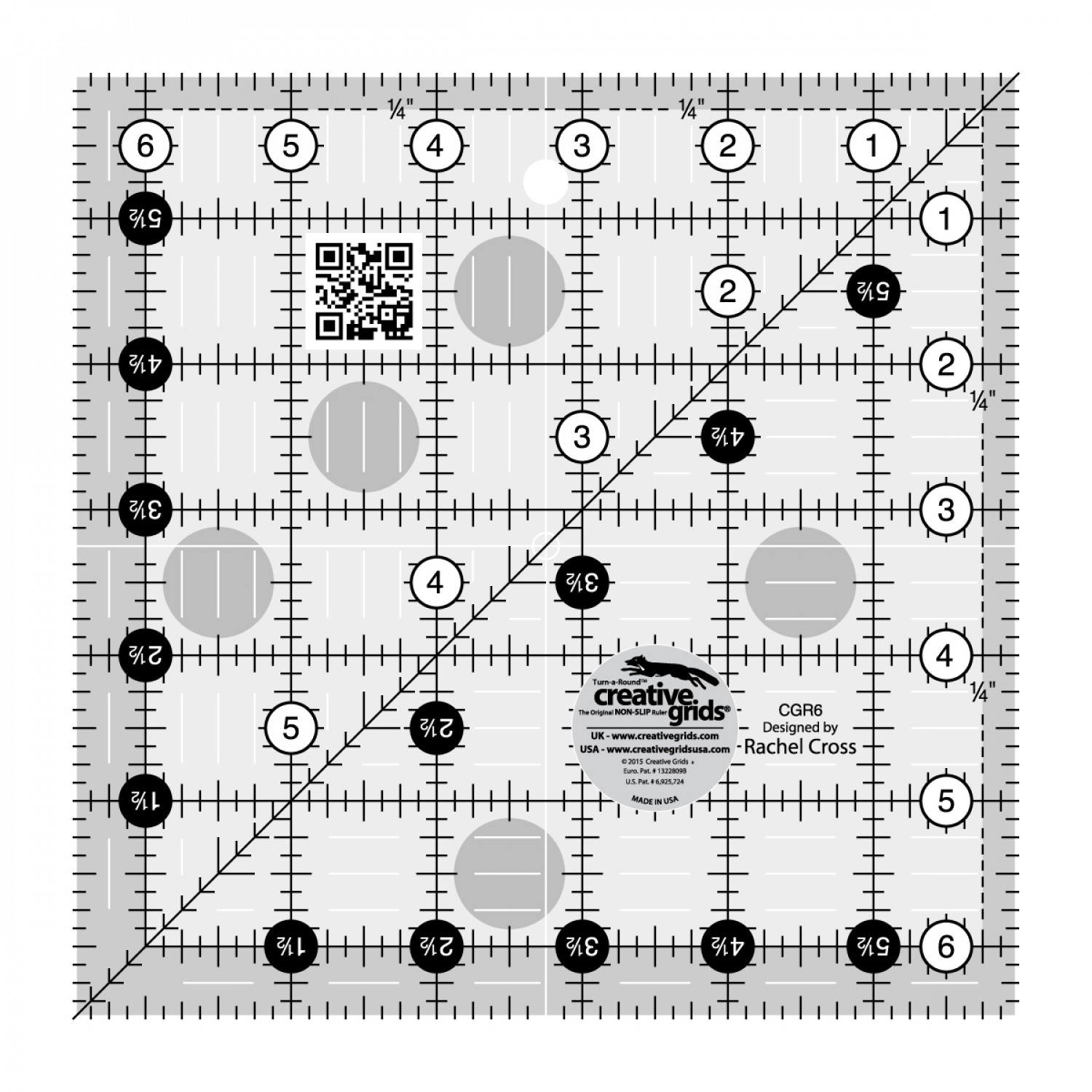 Creative Grids Quilt Ruler 6-1/2in Square preview