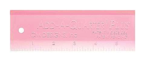 Pink Add-A-Quarter Plus 6in Ruler