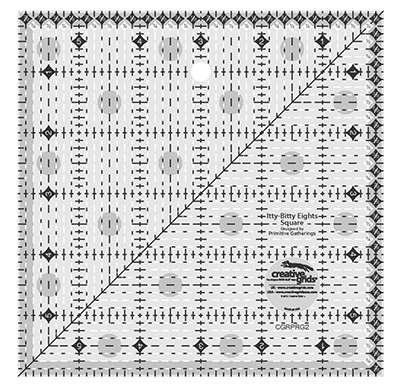 Creative Grids Eights Square Quilt Ruler 6 inch x 6 inch preview