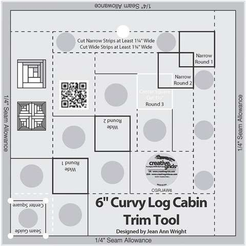 Curvy Log Cabin Trim Tool 6 Inches - Creative Grids CGRJAW6