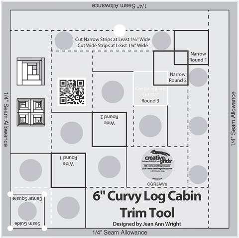 Curvy Log Cabin Trim Tool 6 Inches - Creative Grids CGRJAW6