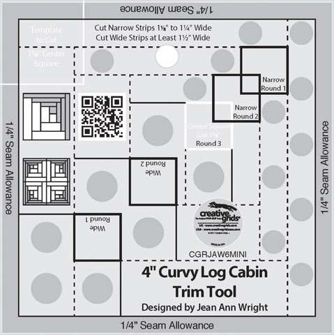 Curvy Log Cabin Trim Tool 4 Inches - Creative Grids CGRJAW6MINI
