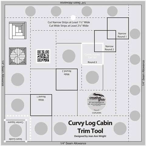 Curvy Log Cabin Trim Tool 8 Inches - Creative Grids CGRJAW5
