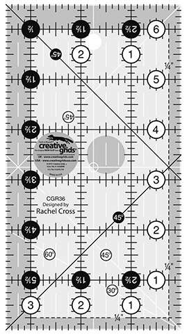 Creative Grids Quilt Ruler 3-1/2in x 6-1/2in (CGR36) preview
