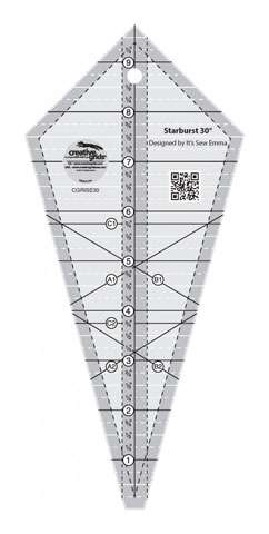 Creative Grids Starburst 30 Degree Triangle Ruler (CGRISE30) preview