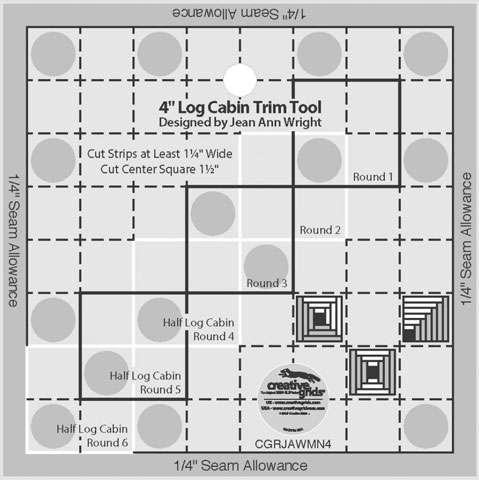 Creative Grids 4-inch Log Cabin Trim Tool