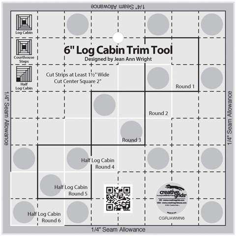 Creative Grids 6-inch Log Cabin Trim Tool