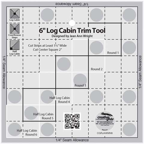 Creative Grids 6-inch Log Cabin Trim Tool