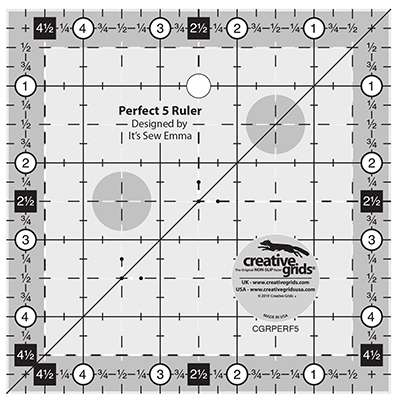 """Creative Grids Perfect 5 Ruler (5"""" x 5"""") preview"""