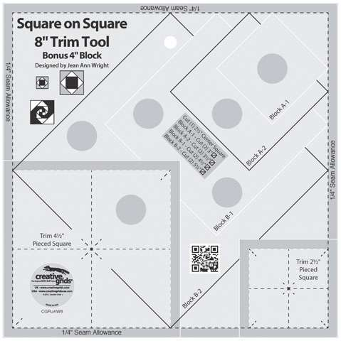 "Creative Grids Square on Square Trim Tool - 8"" CGRJAW8"