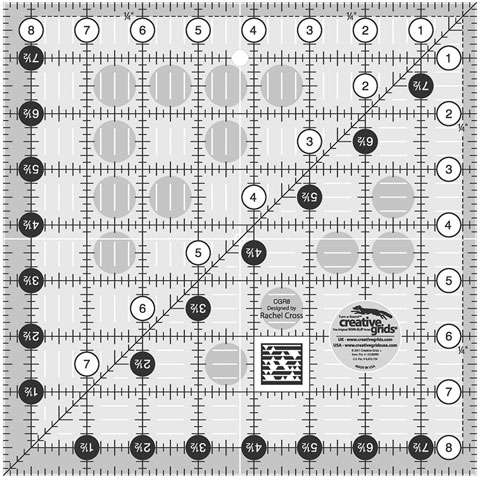 Creative Grids Quilt Ruler 8-1/2in Square CGR8