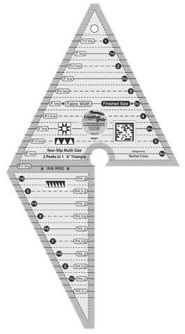 Creative Grids Two Peaks In One Triangle Ruler (13in x 7in)