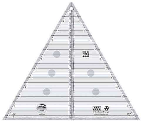 Triangle Ruler 60 Deg (12 1/2in) - Creative Grids CGRT12560