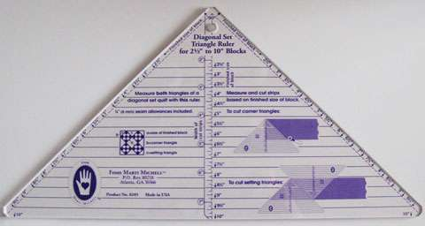 Diagonal Set Triangle Ruler (2.5in to 10in) by Marti Michell