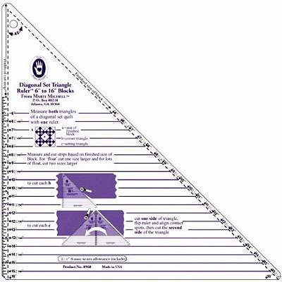 "Diagonal Set Triangle Ruler (6"" to 16"") by Marti Michell"