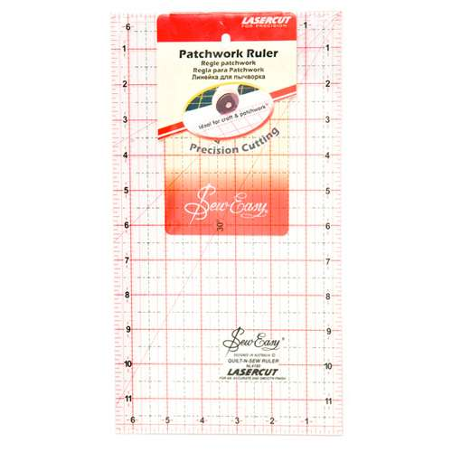 """Sew Easy Patchwork Ruler 12 x 6.5""""  preview"""