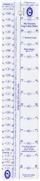 "Log Cabin Ruler (1/2"" and 1"") #8227"