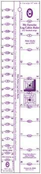 """Log Cabin Ruler (1 1/4"""" or 5/8"""" width finished strips)"""