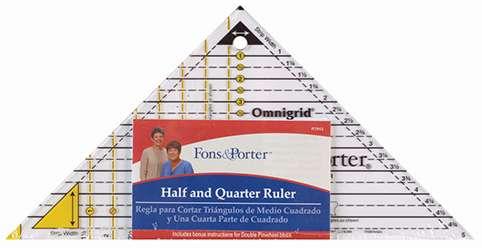 Fons & Porter Half and Quarter Square Triangles Ruler preview