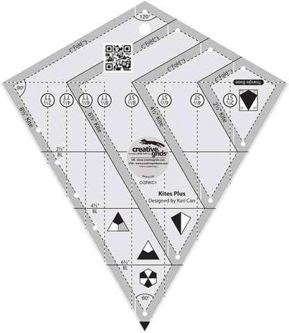 Kites Plus Ruler - Creative Grids CGRKC1 preview