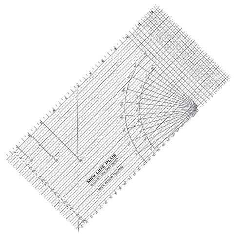 "Miniline Plus Ruler (12.5"" x 6"") - FastPatch"