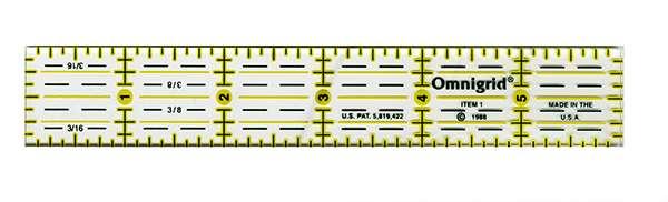 Omnigrid Ruler 1in x 6in (R1) (OG1) preview