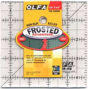 """Olfa Quilter's Ruler 4.5"""" Square"""