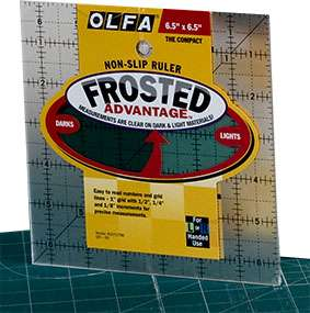 "Olfa Quilter's Ruler 6.5"" Square"