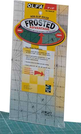 """Olfa Quilter's Ruler 6"""" x 12""""  preview"""
