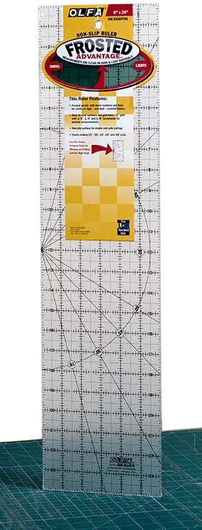 """Olfa Quilter's Ruler 6"""" x 24""""  preview"""