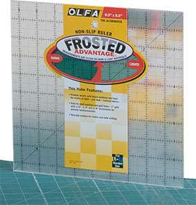 "Olfa Quilter's Ruler 9.5"" Square"