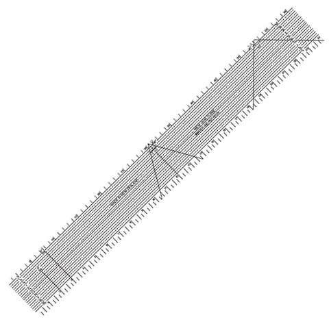 """Quiltline Ruler (24"""" x 3"""") - FastPatch"""
