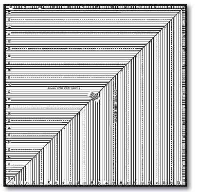 "The Right Square Ruler (12.5"" square)"