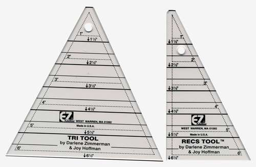 Tri-Recs Triangle Ruler by Darlene Zimmerman & Joy Hoffman