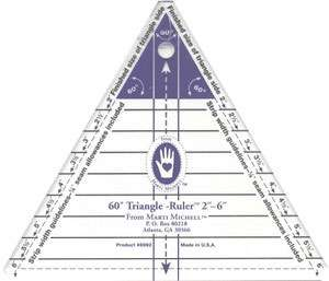 "Marti Michell Triangle Ruler 60 Degree (2"" to 6"")"