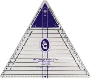"Marti Michell Triangle Ruler 60 Degree (3"" to 9"")"