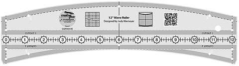 "Creative Grids 12"" Wave Ruler"