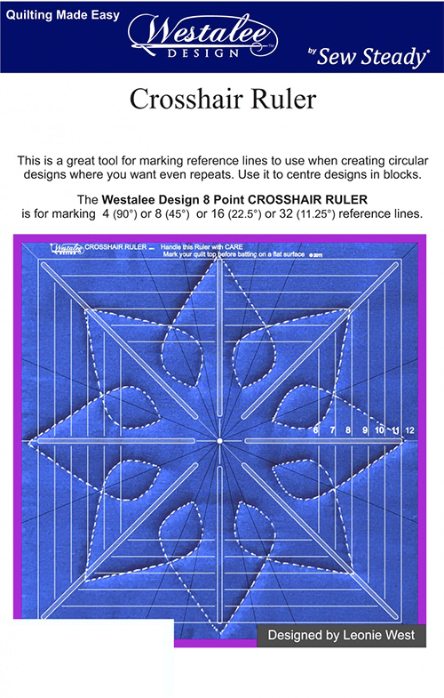 """Westalee Crosshair Square 8 Point Ruler - 12-1/2""""  preview"""