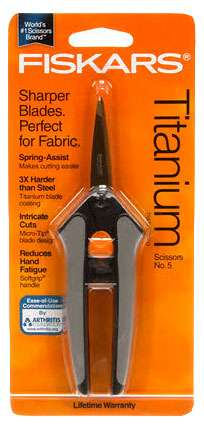 Fiskars Soft Touch Titanium Scissors No. 5