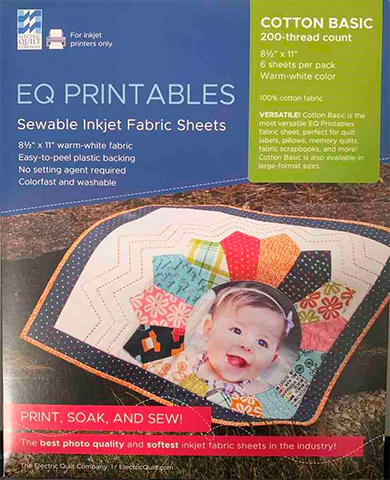 Inkjet Fabric Sheets