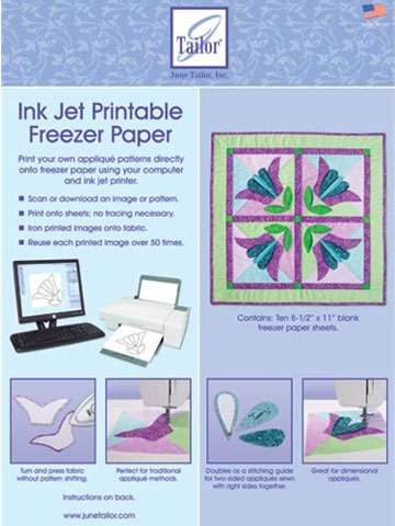 Pack of Ink Jet Printable Freezer Paper Sheets
