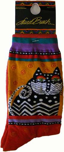Cat Socks from Laurel Burch (1006 red)
