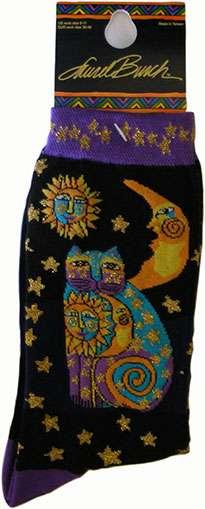 Cat Socks from Laurel Burch (1073 black)