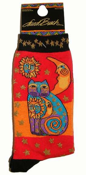 Cat Socks from Laurel Burch (1073 orange)